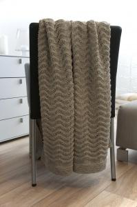 Strickdecke   Blanket : Waves of desert and sea