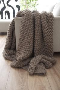 Strickdecke   Blanket : Cinnamon sugar flakes