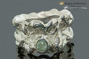 Goldschmiede Silberring  - Handarbeit kaufen