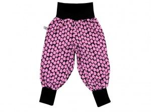 Mitwachshose Tropfen Hose Pumphose in rosa und schwarz