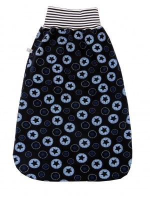Schlafsack Sterne Fußsack Pucksack in blau mit Sternen