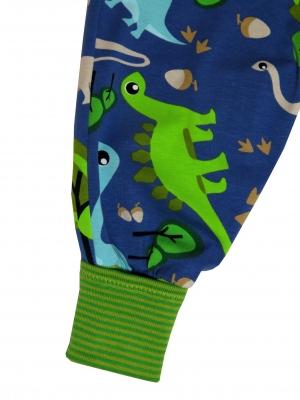 Mitwachshose Dinos Hose Pumphose blau grün Dinosaurier
