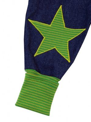 Jeans Mitwachshose Stern grün Babyhose Hose Pumphose