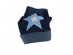 Süße Jeans Mütze Beanie für coole Kids mit Stern