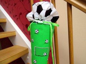 Schultüe aus Stoff Fußball Zuckertüte für Jungs