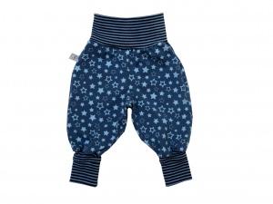Mitwachshose Sterne Hose Pumphose blau Babyhose