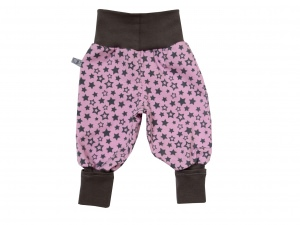 Mitwachshose Sterne Hose Pumphose rosa grau Babyhose