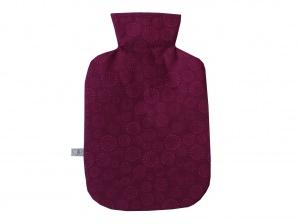 Wärmflaschenbezug in fuchsia für 2l Wärmflasche