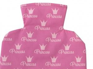 Wärmflaschenbezug Princess in pink für 2l Wärmflasche