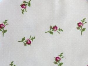 Wärmflaschenbezug zartrosa mit Rosen für 2l Wärmflasche