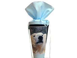Schultüte aus Stoff mit coolem Eisbär für Jungen
