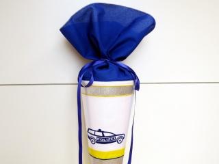 Schultüte Zuckertüte aus Stoff POLIZEI in blau weiß silber für Jungen