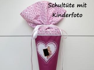 Schultüte aus Stoff Herz für FOTO Zuckertüte für Mädchen