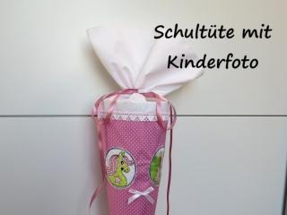 Schultüte aus Stoff Pferd Pony für FOTO Zuckertüte für Mädchen