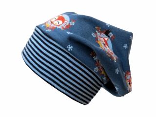 Mütze Beanie in blau mit Füchsen für Mädchen und Jungen
