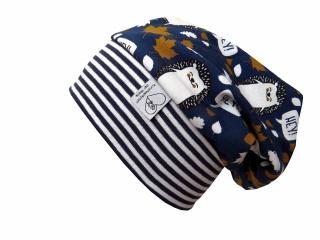 Mütze Beanie in blau mit Igeln für Mädchen und Jungen
