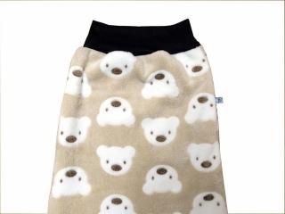Schlafsack Bären Babyschlafsack in beige und braun Fußsack Pucksack