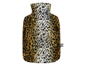 Wärmflaschenbezug OZELOT aus Fellimitat für 2l Wärmflasche