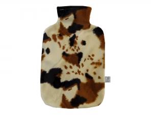 Wärmflaschenbezug KUH aus Fellimitat für 2l Wärmflasche
