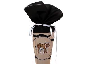 Schultüte Zuckertüte aus Stoff Tiger in schwarz, weiß und beige für Jungen