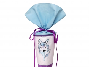 Schultüte Zuckertüte aus Stoff Wolf für Mädchen