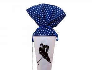 Schultüte Zuckertüte aus Stoff Eishockey in blau für Jungen
