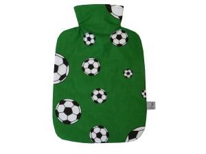 Wärmflaschenbezug mit Namen Fußball in grün Polizei für 2l Wärmflasche
