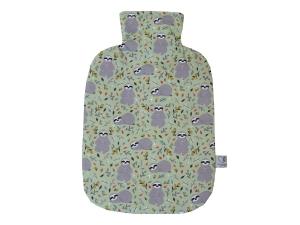 Wärmflaschenbezug mit Namen Faultiere in hellgrün für 2l Wärmflasche