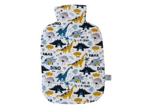 Wärmflaschenbezug mit Namen Dinosaurier weiß für 2l Wärmflasche     - Handarbeit kaufen