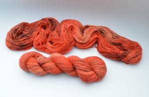Merino Cotton (feine Merinowolle mit Baumwolle) - handgefärbt - LL 400 Meter/100 gramm - Color No. 22 - Handarbeit kaufen