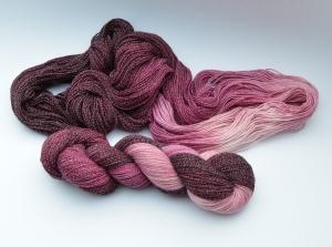 Merino Cotton (feine Merinowolle mit Baumwolle) - handgefärbt - LL 400 Meter/100 gramm - Color No. 18