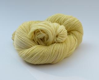 Merino Cotton (feine Merinowolle mit Baumwolle) - handgefärbt - LL 400 Meter/100 gramm - Color: Light Lemon No. 02 - Handarbeit kaufen