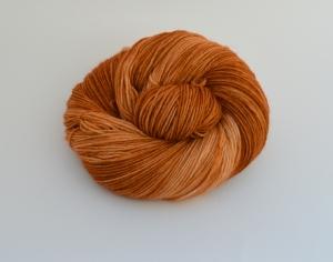 150 g Merino Sockyarn Base -  6 fädige Sockenwolle - handgefärbt - LL420 Meter -  Color: Caramel