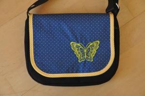 Wechselklappe Schmetterling für Handtasche Buntklee