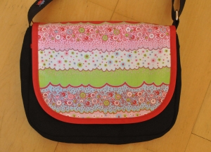 Wechselklappe bunt für Handtasche Buntklee - Handarbeit kaufen