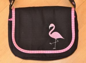 Wechselklappe Flamingo für Handtasche Buntklee
