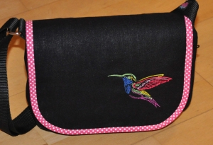 Wechselklappe Kolibri für Handtasche Buntklee - Handarbeit kaufen