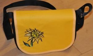 Wechselklappe Sonnenblume für Handtasche Buntklee