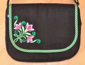 Wechselklappe Blume für Handtasche Buntklee - Handarbeit kaufen