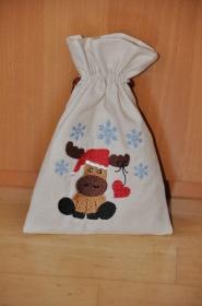 Weihnachtliches Geschenksäckchen - klein