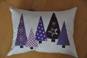 Weihnachtliches Kissen Tannenbäume, Dekokissen, Sofakissen, Kuschelkissen  (Kopie id: 100213855) - Handarbeit kaufen
