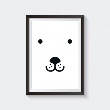 Poster / Bild  Kinderzimmer BEAR SKANDI