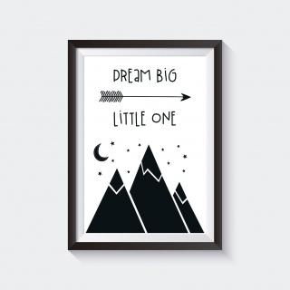 Poster / Bild  Kinderzimmer BERGEN SKANDI