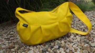 RiBo Sporttasche Strandtasche Shoppertasche genäht aus Kunstleder in gelb kaufen shoppen glücklich sein