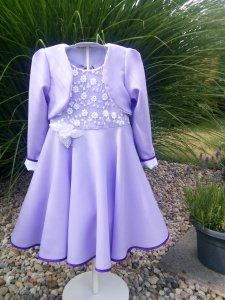 RiBo Kinderkleid Leni Einschulungskleid festlich flieder weiß Spitze kaufen
