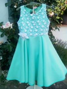 RiBo Kinderkleid Leni Einschulungskleid festlich mint weiß Spitze kaufen (Kopie id: 100038465) (Kopie id: 100038551)