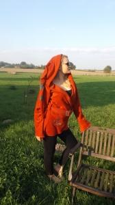 RiBo Elfenjacke Cindy Zipfeljacke Goajacke Polarfleece rost Stickerei kaufen