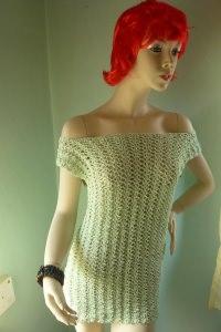 Supertolles grünes handgehäkeltes Minikleid für Girly und Frauen