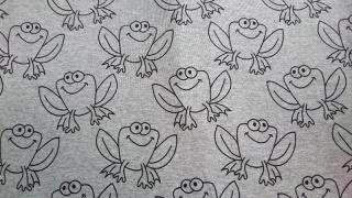 Baumwoll-Jersey Kinderstoff  Stoff Frau / Mann / Junge / Mädchen Frosch