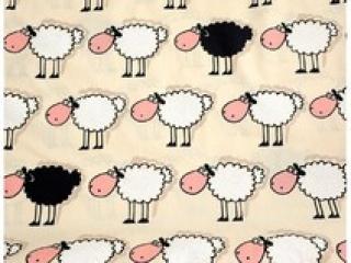 Baumwolle Stoff Mädchen Schafe Stoff, Kinderstoff, Mädchen, Junge, Frau, Patchwork